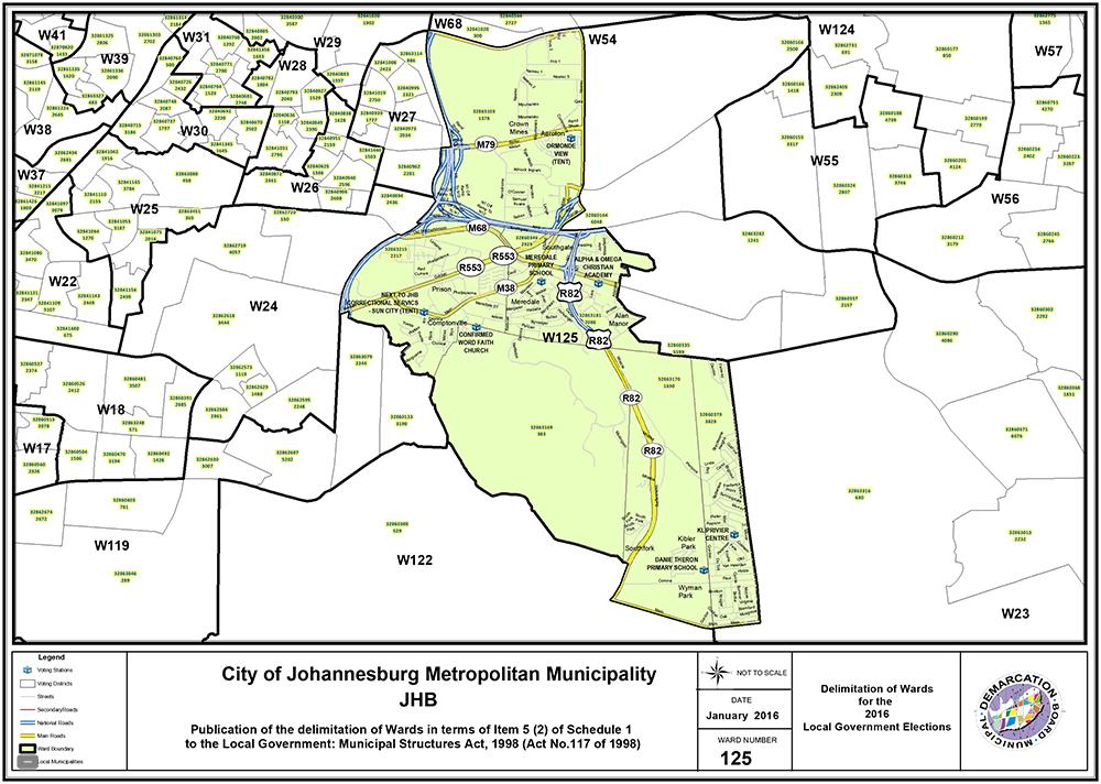 Ward 125 Jhb South