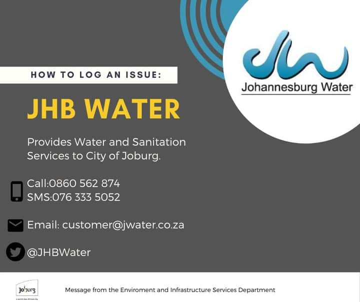 Joburg Water - log a call